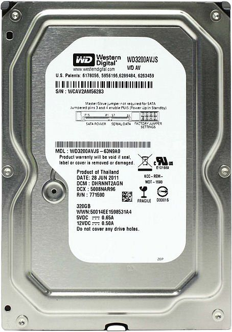 Жесткий диск Western Digital WD3200AVJS 320Gb 7200rpm 8Mb SATA2