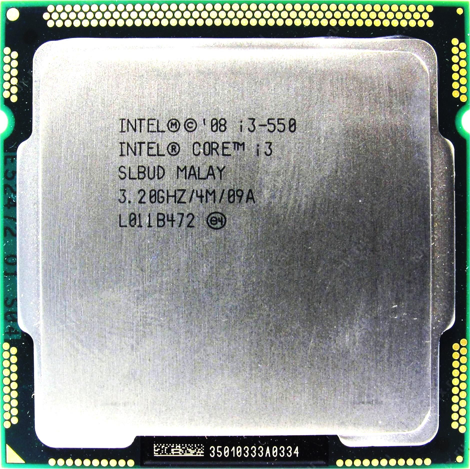 Процессор Intel Core i3-550 3.2GHz S-1156 2C/4Th 4Mb HD Graphics OEM